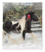The Christmas Pony Fleece Blanket