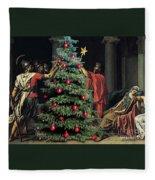 The Christmas Tree Of The Horatii Fleece Blanket