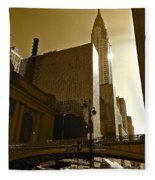 The Chrysler Building In Nyc Fleece Blanket