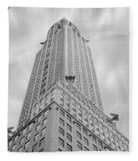The Chrysler Building Fleece Blanket