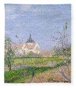 The Church At Vaudreuil Fleece Blanket