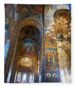The Church Of Our Savior On Spilled Blood - St. Petersburg - Russia Fleece Blanket