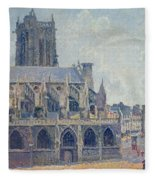 The Church Of St Jacques In Dieppe Fleece Blanket