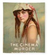 The Cinema Murder  Fleece Blanket