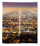 The City Grid Fleece Blanket