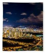 The City Of Aloha Fleece Blanket
