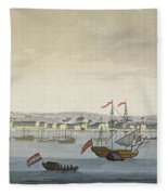 The City Of Paramaribo Fleece Blanket
