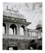 The City Palace Udaipur Fleece Blanket