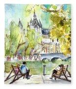 The City Park In Budapest 01 Fleece Blanket
