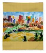 The City Skyline Fleece Blanket