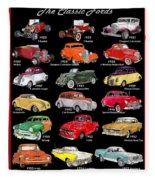 Ford Poster Art Fleece Blanket
