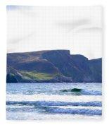 The Cliffs Of Western Eire Fleece Blanket