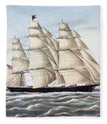 The Clipper Ship Flying Cloud Fleece Blanket