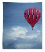 The Clouds Below - Hot Air Balloon Fleece Blanket