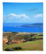 The Coast Of La Coruna Fleece Blanket