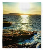 The Coast Of Maine Fleece Blanket