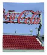 The Coca-cola Corner Fleece Blanket
