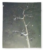 The Cold Bones Of Trees At Night Fleece Blanket