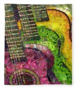 The Color Of Music In The Way Of Arcimboldo Fleece Blanket