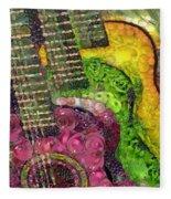The Color Of Music In The Way Of Arcimboldo Fleece Blanket