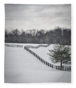 The Color Of Winter - Bw Fleece Blanket