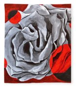 The Color Red Two Fleece Blanket