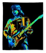 The Colorful Sound Of Mick Playing Guitar Fleece Blanket