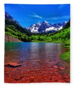 The Colors Of Maroon Bells In Summer Fleece Blanket