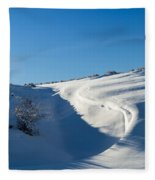 The Colors Of Snow Fleece Blanket