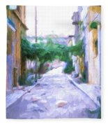 The Colors Of The Streets Fleece Blanket