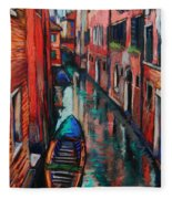 The Colors Of Venice Fleece Blanket