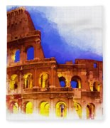 The Colosseum Fleece Blanket