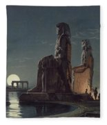 The Colossi Of Memnon, Thebes, One Fleece Blanket