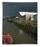 The Columbia River Maritime Museum Sits Fleece Blanket