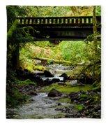 The Coming Of Autumn - Barnes Creek - Lake Crescent - Washington Fleece Blanket