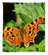 The Comma -- Polygonia C-album Fleece Blanket