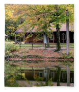 The Commissioners Cabin In Autumn Fleece Blanket