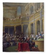 The Committee Of Lyon, 26th January 1802, 1808 Oil On Canvas Fleece Blanket