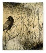The Common Crow Fleece Blanket