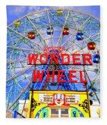 The Coney Island Wonder Wheel Fleece Blanket