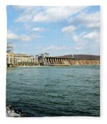 The Conowingo Dam Fleece Blanket