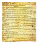 The Constitution Of The United States Of America Fleece Blanket