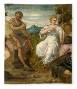 The Contest Between Apollo And Marsyas Fleece Blanket