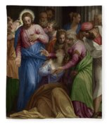 The Conversion Of Mary Magdalene Fleece Blanket