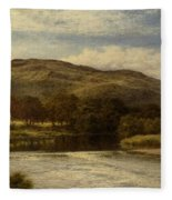 The Conway Near Bettws Y Coed Fleece Blanket