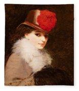 The Coquette, 1863 Fleece Blanket