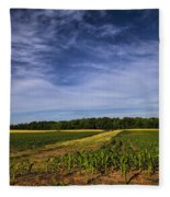 The Corn Fields Of Alabama Fleece Blanket