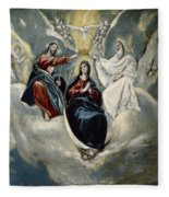 The Coronation Of The Virgin Fleece Blanket