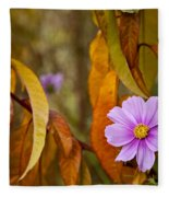 The Cosmos In The Peach Tree Fleece Blanket