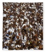 The Cotton Buzz In Alabama Fleece Blanket